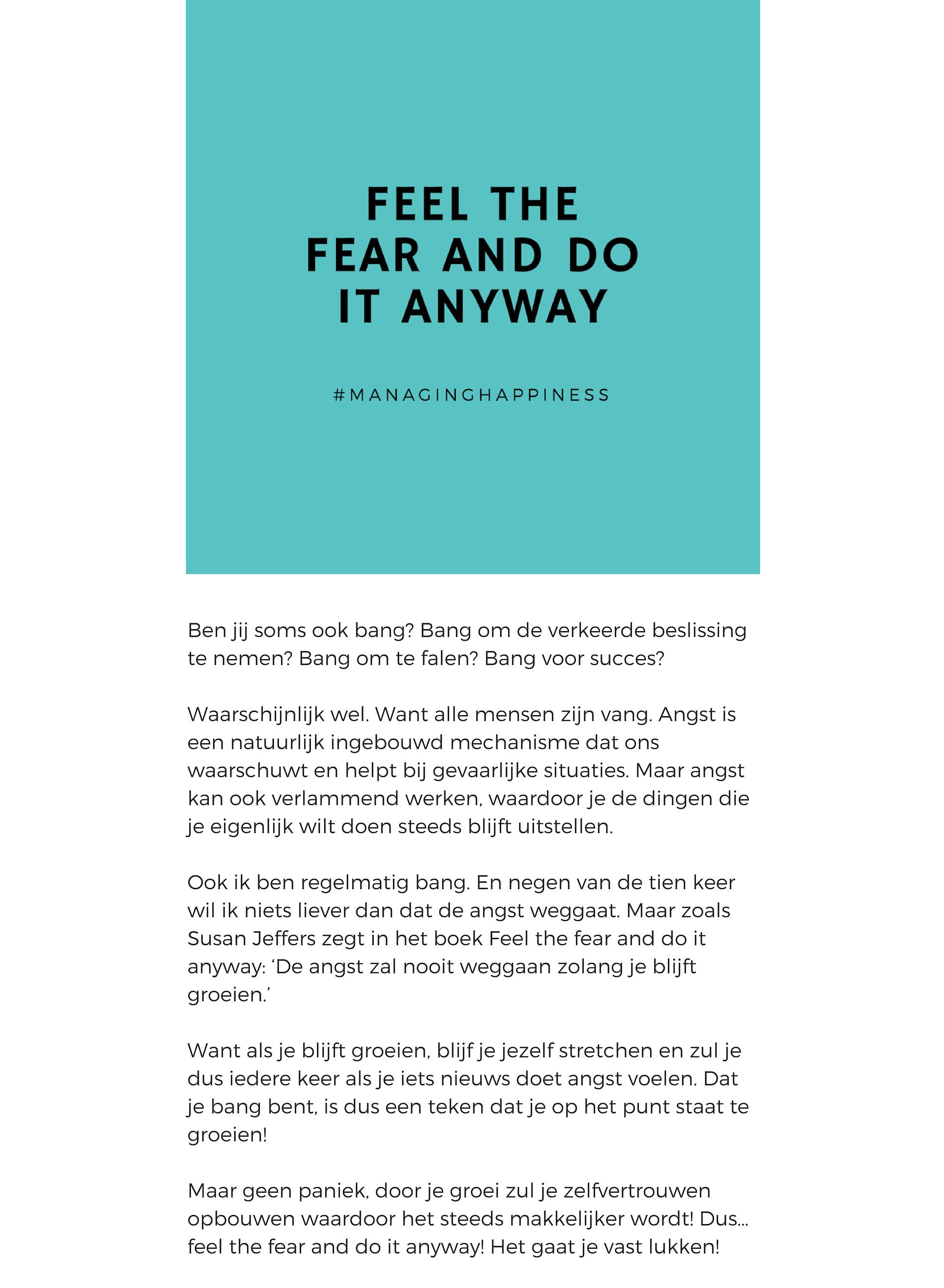 Random 3 Feel the fear 2